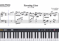 Yawning Lion-Deemo BGM-Free Piano Sheet Music