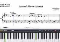 Mutual-Shawn Mendes-Free Piano Sheet Music
