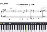 The Adventures of Han-Solo A Star Wars Story Theme-Free Piano Sheet Music