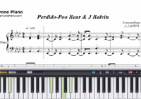Perdido-Poo Bear ft J Balvin-Free Piano Sheet Music