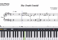 The Truth Untold-BTS-Free Piano Sheet Music