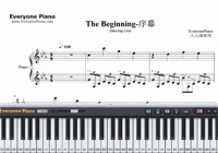 The Beginning-Dancing Line-Free Piano Sheet Music