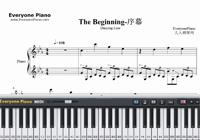 The Beginning-ダンシングライン-楽譜ピアノ学習