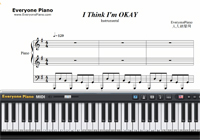 I Think I'm Okay-Machine Gun Kelly-Free Piano Sheet Music