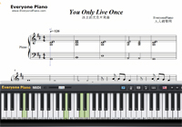 You Only Live Once-Yuri on Ice ED-Free Piano Sheet Music