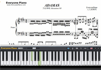 ADAMAS-Sword Art Online Alicization OP-Free Piano Sheet Music