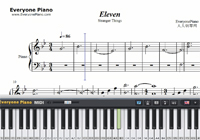 Eleven-Stranger Things OST-Free Piano Sheet Music