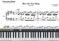 How Do You Sleep-Sam Smith-Free Piano Sheet Music