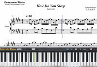 How Do You Sleep-Sam Smith-Free Piano Sheet Music