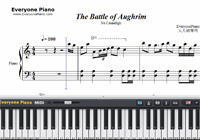 The Battle of Aughrim-Na Casaidigh-Free Piano Sheet Music