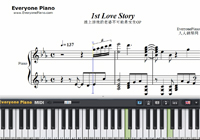 1st Love Story-And You Thought There Is Never a Girl Online OP-Free Piano Sheet Music