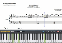 Boyfriend-Ariana Grande ft Social House-Free Piano Sheet Music