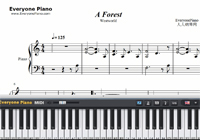 A Forest-Westworld OST-Free Piano Sheet Music