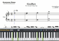 Goodbyes-Post Malone ft Young Thug-Free Piano Sheet Music