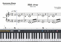 Slide Away-Miley Cyrus-Free Piano Sheet Music