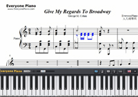 Give My Regards To Broadway-Little Johnny Jones OST-Free Piano Sheet Music