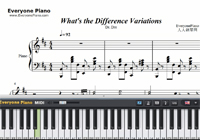 What's the Difference-Dr. Dre-Free Piano Sheet Music