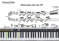 Philosophyz-Rewrite OP-Free Piano Sheet Music