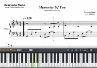 Memories Of You-Approaching Nirvana-Free Piano Sheet Music
