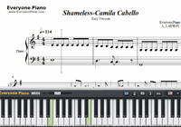 Shameless-Camila Cabello-Free Piano Sheet Music