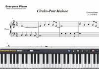 Circles-Post Malone-Free Piano Sheet Music