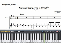 Someone You Loved-Lewis Capaldi-Free Piano Sheet Music