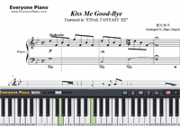 Kiss Me Good-Bye-Final Fantasy XII Theme-Free Piano Sheet Music