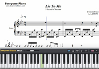 Lie to Me-5 Seconds of Summer-Free Piano Sheet Music