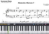 Memories-Maroon 5-Free Piano Sheet Music