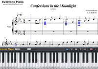 Confessions in the Moonlight-Joe Hisaishi-Free Piano Sheet Music