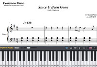 Since U Been Gone-Kelly Clarkson-Free Piano Sheet Music