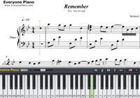 Remember-The Daydream-Free Piano Sheet Music