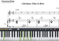 Christmas Time Is Here-A Charlie Brown Christmas OST-Free Piano Sheet Music