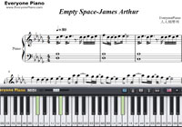 Empty Space-James Arthur-Free Piano Sheet Music