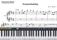 Somnambulating-Yu Zhong-Free Piano Sheet Music