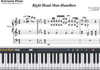 Right Hand Man-Hamilton OST-Free Piano Sheet Music
