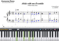 Abide with me-Eventide-Free Piano Sheet Music