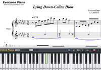 Lying Down-Celine Dion-Free Piano Sheet Music