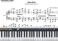 Anecdote-Kemono Michi ED-Free Piano Sheet Music