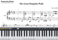 Great Pumpkin Waltz-Vince Guaraldi-Free Piano Sheet Music