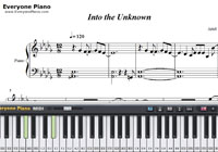 Into the Unknown-Frozen 2 OST-Free Piano Sheet Music