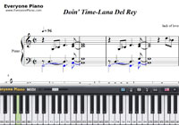 Doin Time-Lana Del Rey-Free Piano Sheet Music