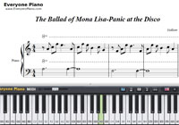 The Ballad of Mona Lisa-Panic! at the Disco-Free Piano Sheet Music