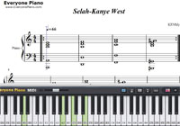 Selah-Kanye West-Free Piano Sheet Music