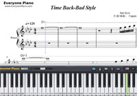 Time Back-Bad Style-Free Piano Sheet Music