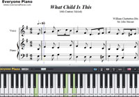 What Child Is This-Christmas Carol-Free Piano Sheet Music