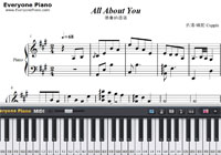 All About You-Hotel del Luna OST-Free Piano Sheet Music