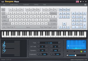 Everyone Piano is free piano software.